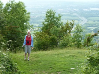 On the Cotswalds Way on Crickley Hill