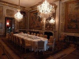 Dining room in Waddeson Manor