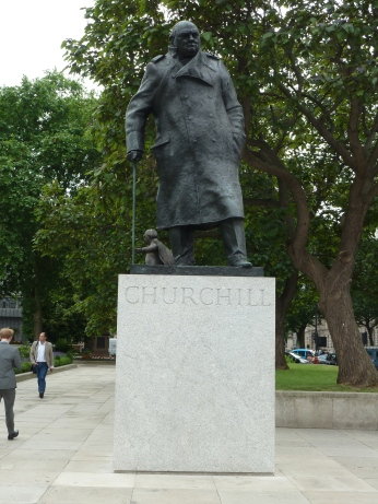 Statue of Churchill at Westminster