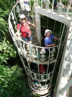 Climbing down from top of Plantasia - Kew Gardens
