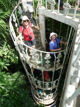 Climbing down from top of Plantasia - Kew Gardens