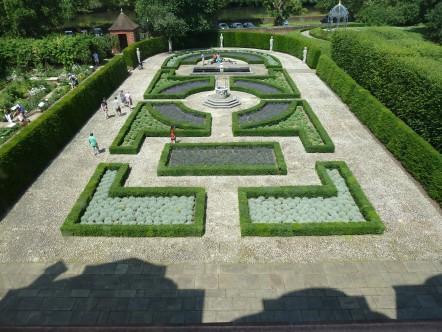 Queens Garden from window Kew Palace