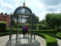 Girls in Bird Cage in Queens Garden - Kew Gardens