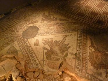 Mozaic floor Chedworth Roman Villa