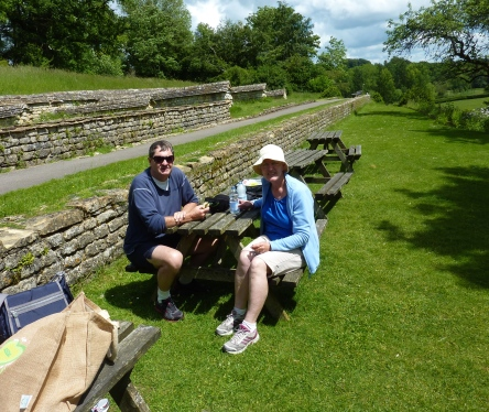 Lunch at Chedworth Roman Villa - National Trust!