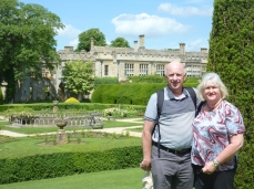 Terry and Julie in the Sudeley Castle Gardens