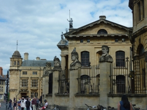 Wall outside Sheldonian Theatre
