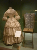 Honiton Lace veil in the Wedding Dress Exhibition in Victoria and Albert Museum