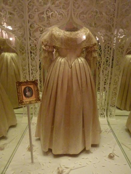Queen Victoria's wedding dress in Kensington Palace
