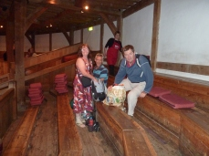 Our seating at the Globe Theatre