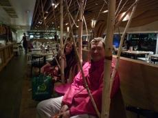 Julie-ann and Glenn at Ziggi's restaurant for dessert